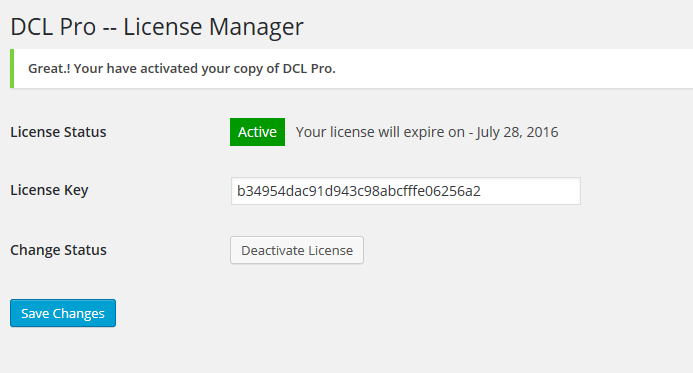 DCL License - Activated